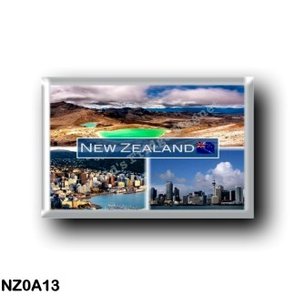 NZ0A13 Oceania - New Zealand - The Emerald Lakes - Mount Tongariro - Wellington - Auckland