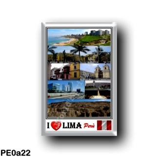 PE0a22 America - Peru - Lima - I Love Mosaic - Panorama - Miraflores District - Saint Francisco De Asis - Panorama
