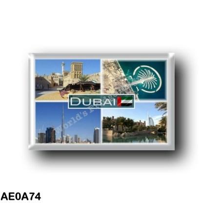 AE0A74 Asia - United Arab Emirates Dubai - Burj Al Arab- Palm Jumeirah - Al Bastakiya - Panorama
