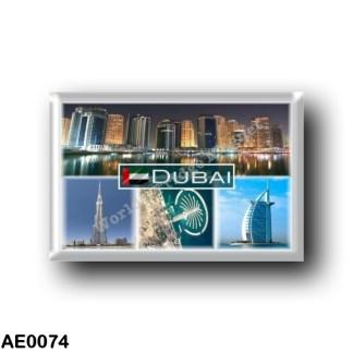 AE0074 Asia - United Arab Emirates Dubai - marina towers - Burj Khalifa - Palm Jumeirah - Burj Al Arab