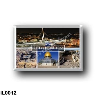 IL0012 Asia - Israel - Jerusalem - Dome of the Rock - Chords Bridge - Western Wall - temple mount - old city of jerusalem Al-Qib