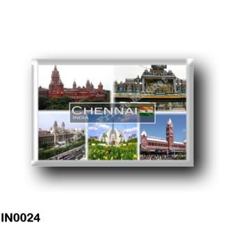 IN0024 Asia - India - Chennai Madras India Madras High Court - Memorial at Marina beach - Parthasarathy Temple - Southern Railwa
