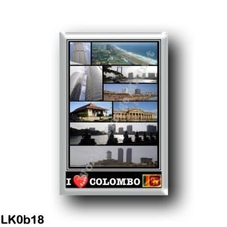LK0b18 Asia - Sri Lanka - I Love Mosaic Panorama of the Coast - The Beach - Sea View - The Skycrapers
