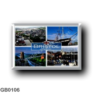 GB0106 Europe - England - Bristol - Aerial View - SS Great Britain - Clifton Bridge - Harbour