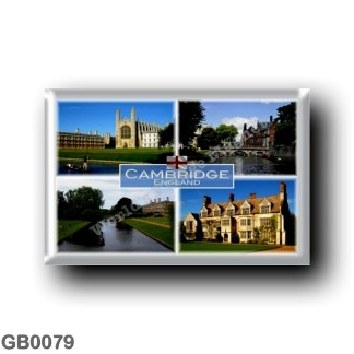 GB0079 Europe - England - Cambridge - Anglesey Abbey - King College Chapel - The Backs - Backs showing Clare College - Clare bri