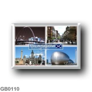 GB0110 Europe - Scotland - Glasgow - Science Cente r- George Square & City Chambers - Clyde Arc - Buchanan Street