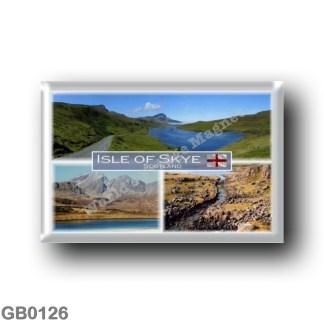 GB0126 Europe - Scotland - The Isle of Skye - Loch Fada - Bla Bheinn from Loch Slapin - The Wiking canal at Rubha an Dunain