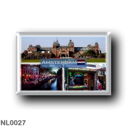 NL0027 Europe - Holland - Amsterdam - Rijksmuseum - Red Light District - Cannabis coffee - Sjop