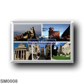 SM0008 Europe - San Marino - Fortress of Guaita on Mount Titano - Public Building - Basilica - Eugippo Street