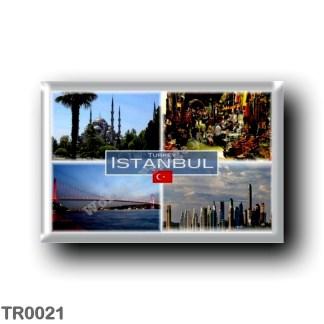 TR0021 Europe - Turkey - Istanbul - Sultan Ahmed Mosque - Gran Bazaar - Bosphorus Bridge - Business district