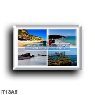 IT13A5 Europe - Italy - Abruzzo - Trabocchi Coast - Rocca San Giovanni - Ortona - Ripari di Giobbe - Promontory - Vasto - Chieti