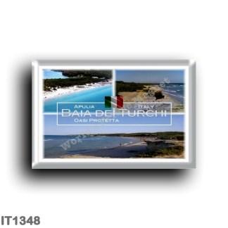 IT1348 Europe - Italy - Puglia - Baia dei Turchi - Panorama - Otranto - Protected Oasis of the Alimini Lake