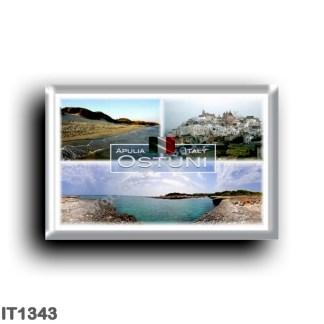 IT1343 Europe - Italy - Puglia - Ostuni - Beach and Dune - Panorama - Lamaforca - Salento - View