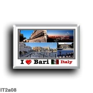 IT2a08 Europe - Italy - Puglia - Bari - Mosaic - Panorama - Sea View - Bari by night