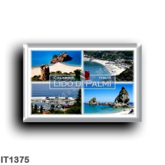 IT1375 Europe - Italy - Calabria - Lido di Palmi - Scoglio dell'Ulivo - Scoglio and Torre ParcoTaureanum - Tonnara Beach
