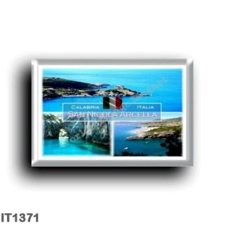 IT1371 Europe - Italy - Calabria - San Nicola Arcella - Saracen Tower and Port - Arco Magno Cave - Panorama - Cosenza