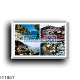 IT1351 Europe - Italy - Campania - Positano - Fornillo Beach - Beach - Panorama