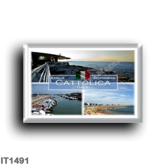 IT1491 Europe - Italy - Emilia Romagna - Cattolica - Sea View - Beach - Tourist harbor