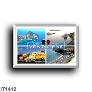 IT1412 Europe - Italy - Lazio - Ventotene - Panorama - Cala Nave Beach - View Harbor - Latina - Santo Stefano Island - Pontian I