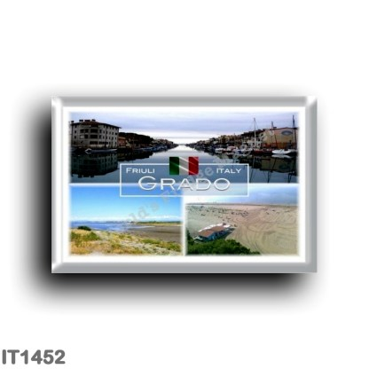 IT1452 Europe - Italy - Friuli Venezia Giulia - Grado - Pinewood - Port Harbor - Panorama