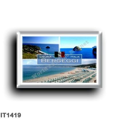 IT1419 Europe - Italy - Liguria - Bergeggi and Bergeggi Island - Panorama