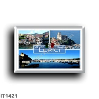 IT1421 Europe - Italy - Liguria - Lerici - Marinaro suburb of Tellaro - Castle - port