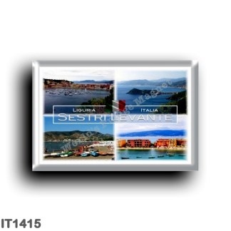 IT1415 Europe - Italy - Liguria - Sestri Levante - Baia Silenzio - Baia Favole - Beach -