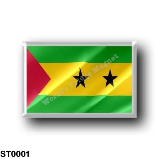 ST0001 Africa - São Tomé and Príncipe - Flag Waving
