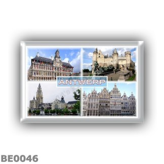 BE0046 - Europe - Belgium - Antwerp - Stadhuis - Het Steen - Cathedral of our Lady - Grote Marks