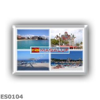 ES0104 Europe - Spain - Balearic Islands - Mallorca - Megaluf - Beach - Sea View