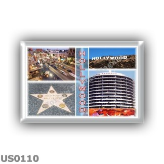 US0110 America - Usa - Hollywood - Hollywood Boulevard - Hollywood Sign -Walk of Fame - Capitol Records Building