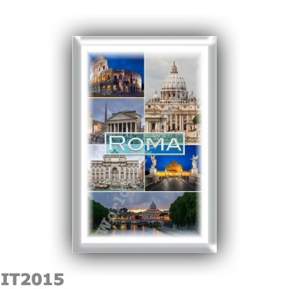 IT2015 - Europe - Italy - Rome - Saint Peter s Basilica - Colosseum - Pantheon - Trevi Fountain- Castel Sant Angelo at night - S
