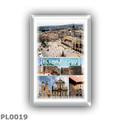 PL0019 Europe - Poland - Krakow - Main Market Square - Wawel Castle - Barbican - Ssaint Mary s Basilica - Church of SS Peter and
