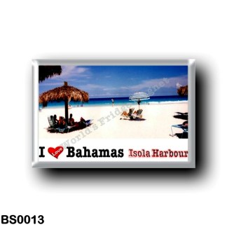BS0013 America - The Bahamas - Isola Harbour - I Love
