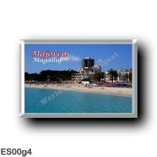 ES00g4 Europe - Spain - Balearic Islands - Majorca - Magalluf - Beach