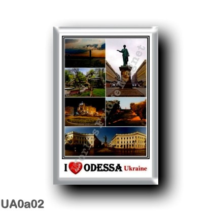UA0a02 Europe - Ukraine - Odessa - I Love Mosaic - Lighthouse - Potemkin steps - The Centre of Odessa With its Statue - Panorama