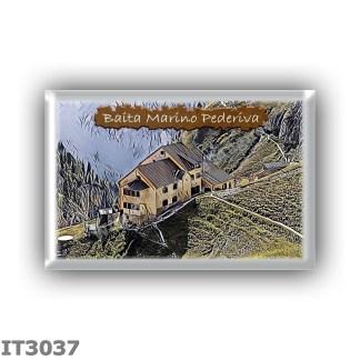 IT3037 Europe - Italy - Dolomites - Group Catinaccio - alpine hut Bergamo al Principe - locality Valle del Ciamin - seats 79 - a