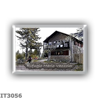 IT3056 Europe - Italy - Dolomites - Group Civetta - alpine hut Mario Vazzoler - locality Col Negro di Pelsa - seats 87 - altitud