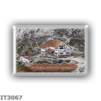 IT3067 Europe - Italy - Dolomites - Group Dolomiti di Sesto - alpine hut Antonio Locatelli - locality Forcella di Toblin - seats