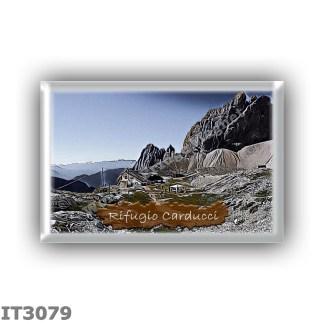 IT3079 Europe - Italy - Dolomites - Group Dolomiti di Sesto - alpine hut Rifugio Giosue Carducci - locality Alta Val Giralba - s