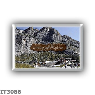 IT3086 Europe - Italy - Dolomites - Group Fanes-Braies - alpine hut Capanna Alpina - locality Plan de l Ega, Alta Valle di San C