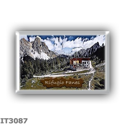 IT3087 Europe - Italy - Dolomites - Group Fanes-Braies - alpine hut Fanes - locality Alpe di Fanes Piccola - seats 72 - altitude