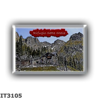 IT3105 Europe - Italy - Dolomites - Group Lagorai - alpine hut Sette Stelle - locality Val del Laner - seats 30 - altitude meter