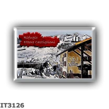 IT3126 Europe - Italy - Dolomites - Group Marmolada - alpine hut Ettore Castiglioni - locality Passo Fedaia - seats 60 - altitud