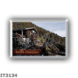 IT3134 Europe - Italy - Dolomites - Group Monzoni - alpine hut Baita Monzoni - locality Valle dei Monzoni - seats 4 - altitude m