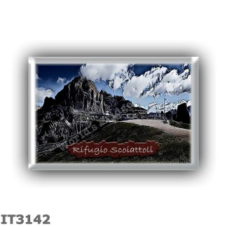 IT3142 Europe - Italy - Dolomites - Group Nuvolau - alpine hut Scoiattoli - locality Monte de Potor - seats 20 - altitude meters