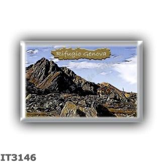 IT3146 Europe - Italy - Dolomites - Group Odle-Puez - alpine hut Genova al Passo Poma - locality Passo Poma - seats 84 - altitud