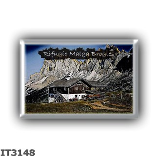 IT3148 Europe - Italy - Dolomites - Group Odle-Puez - alpine hut Malga Brogles - locality Malga Brogles - seats 30 - altitude me