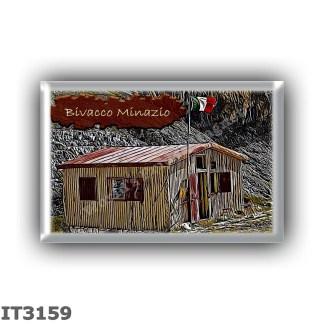 IT3159 Europe - Italy - Dolomites - Group Pale di San Martino - alpine hut Bivacco Minazio - locality Cima Canali - seats 6 - al