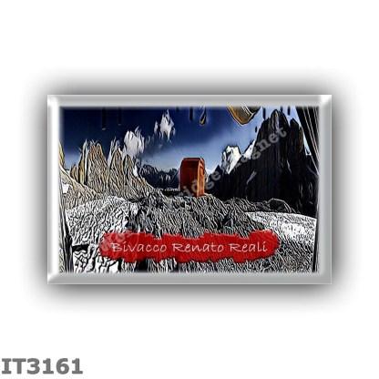 IT3161 Europe - Italy - Dolomites - Group Pale di San Martino - alpine hut Bivacco Renato Reali - locality Forcella Marmor - sea